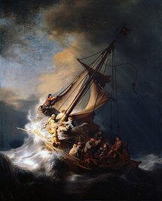 rembrandt, christ in the storm on the sea of galilee